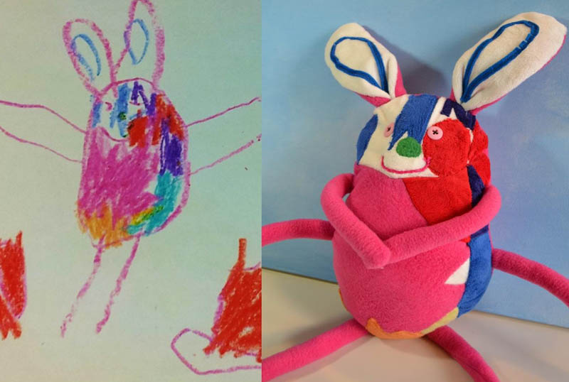 Creative Mom Turns Kids Drawings into Plush Toys ...