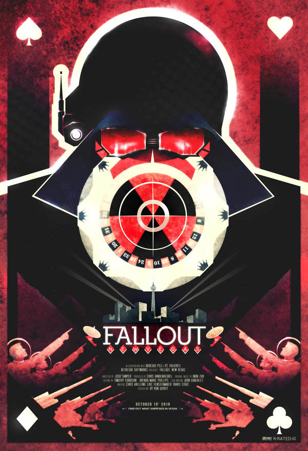 video game movie posters ron guyatt fallout new vegas 14 Creative Video Game Inspired Movie Posters