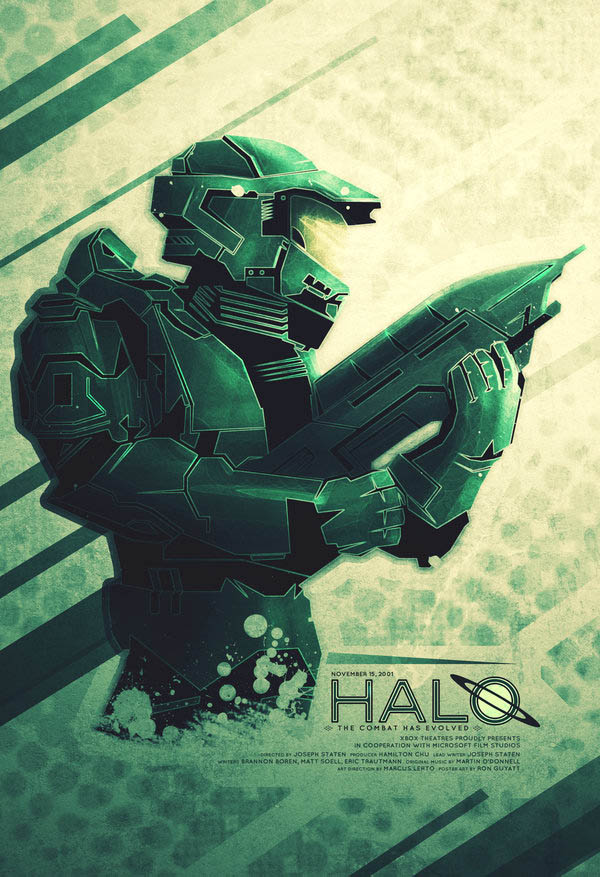 video game movie posters ron guyatt halo master chief 14 Creative Video Game Inspired Movie Posters