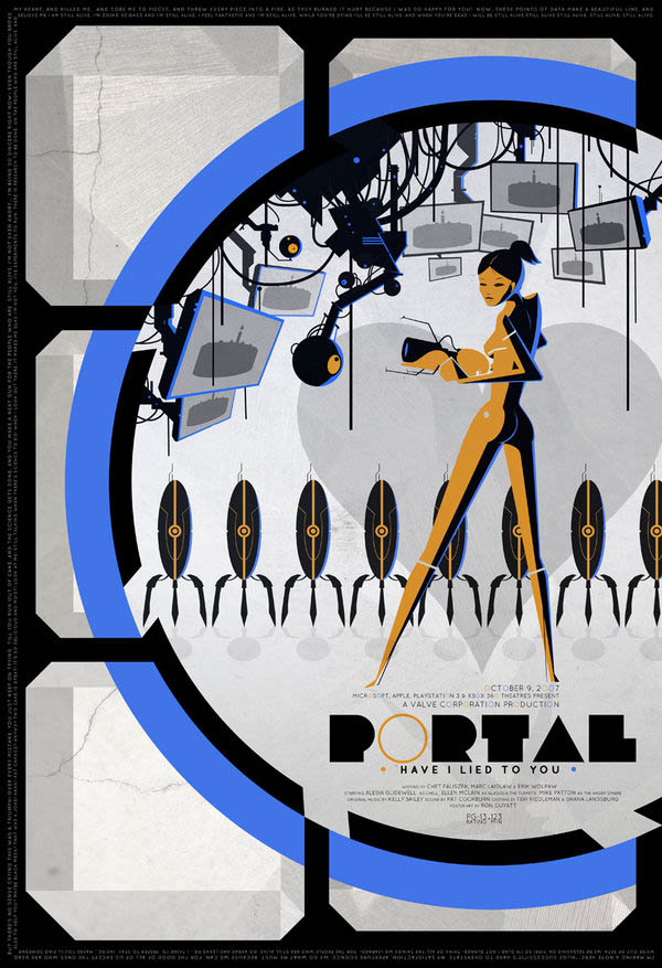 video game movie posters ron guyatt portal 14 Creative Video Game Inspired Movie Posters