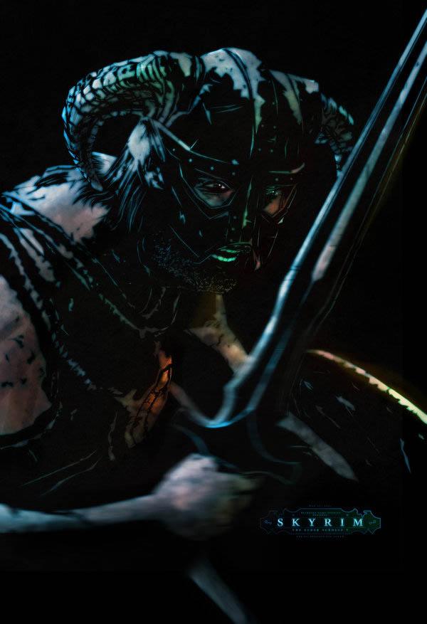 video game movie posters ron guyatt skyrim hero 14 Creative Video Game Inspired Movie Posters