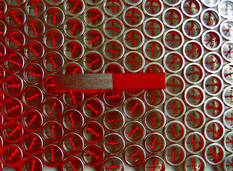 visualizing magnetic fields magnet compasses red to make arrows clearer 10 Photos to Help You Visualize Magnetic Fields