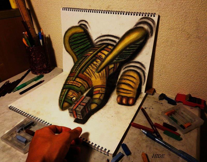 Mind Blowing 3d Pencil Drawings By Nagai Hideyuki