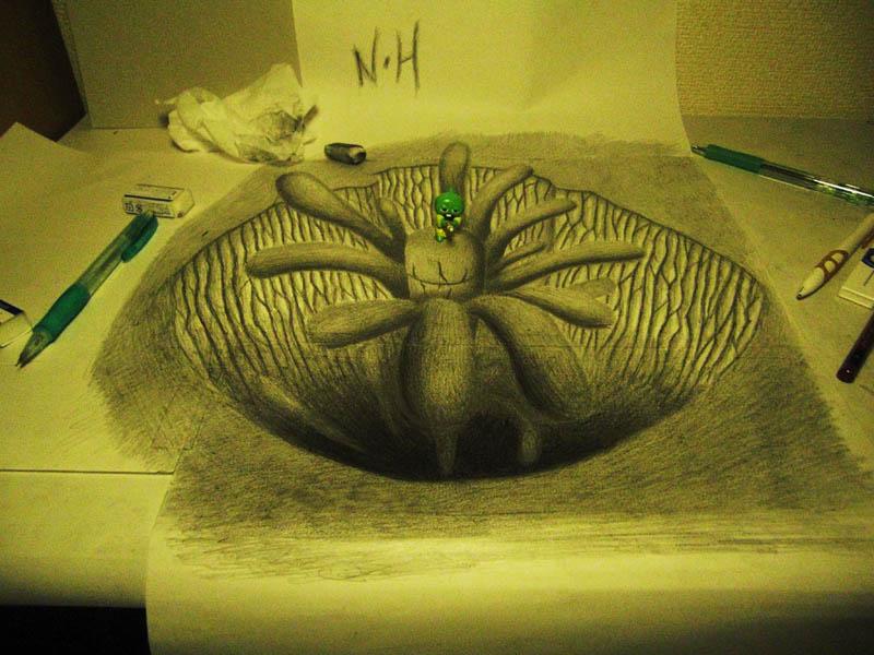 Mind-Blowing 3D Pencil Drawings by Nagai Hideyuki ...