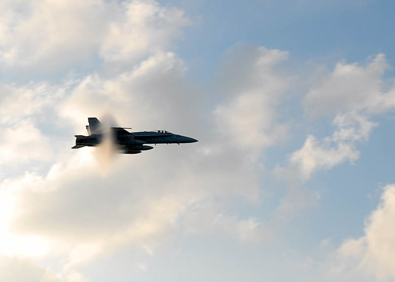 wildcat breaks the sound barrier amongst the clouds