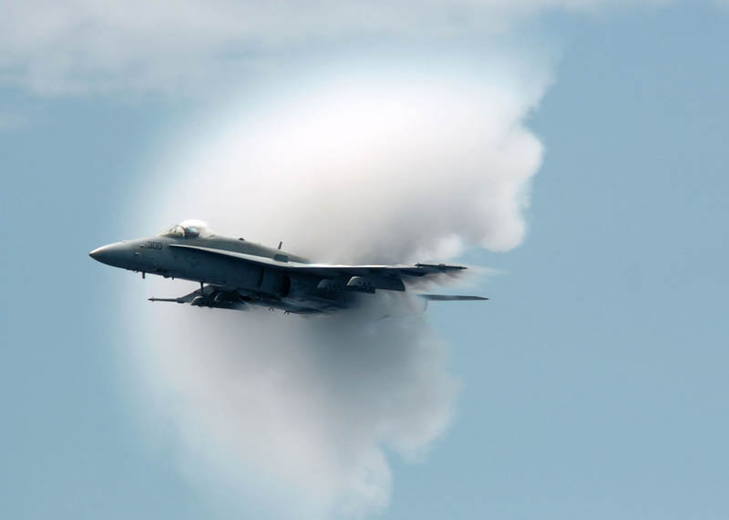 breaking the sound barrier near the uss kitty hawk