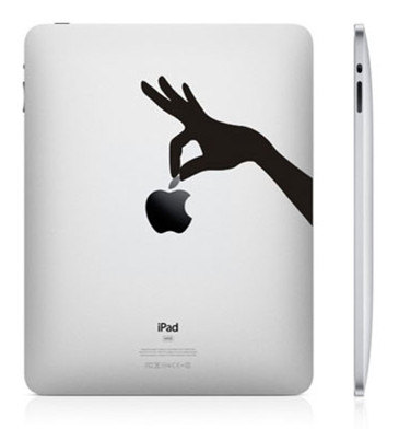 apple picking funny creative ipad decal 33 Creative Decals for your iPad