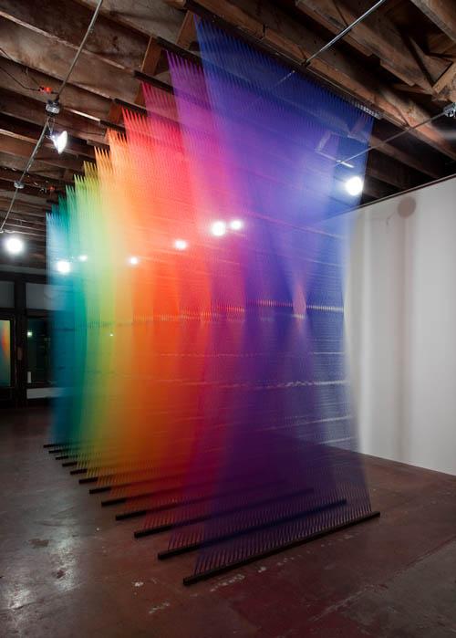 art installation colored thread plexus 3 gabriel dawe 4 6 Amazing Color Spectrums Made from Thread