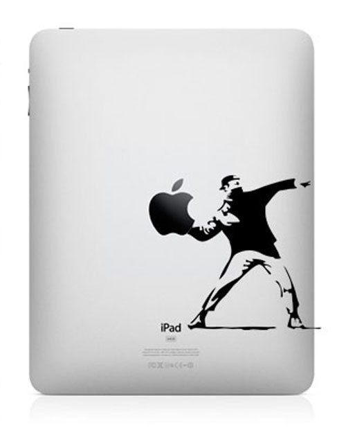 banksy funny creative ipad decal 33 Creative Decals for your iPad