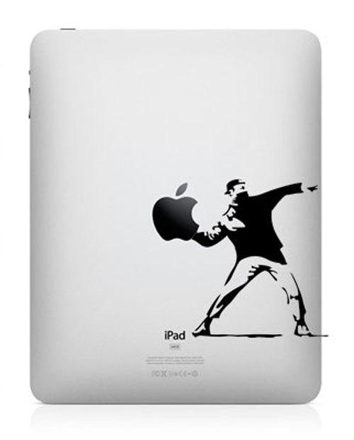 banksy funny creative ipad decal 33 Creative Decals for your iPad