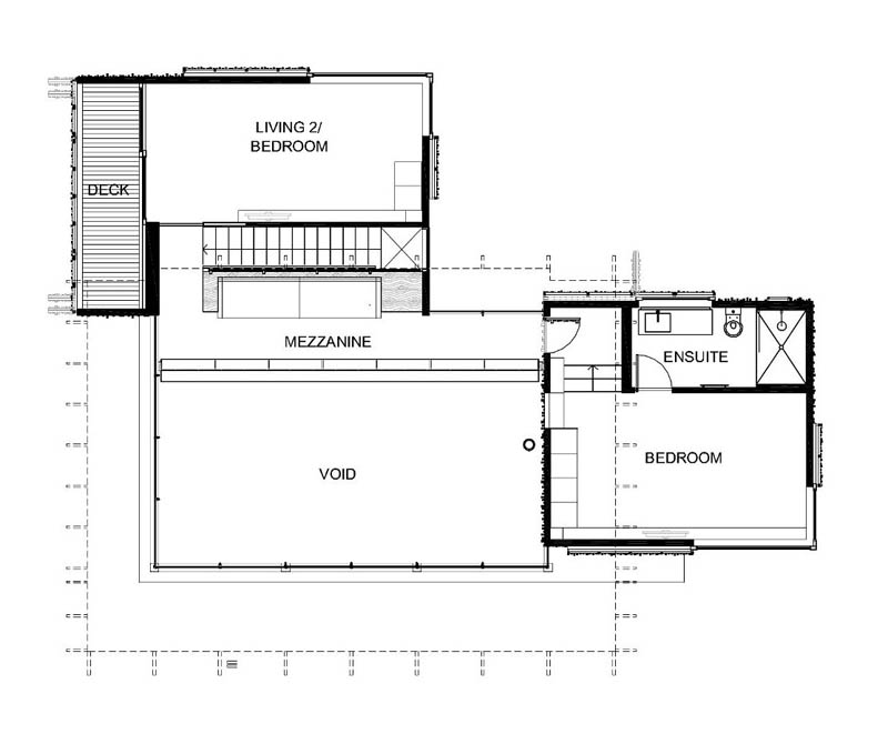 continued floor plans for under pohutukawa house by herbst architects