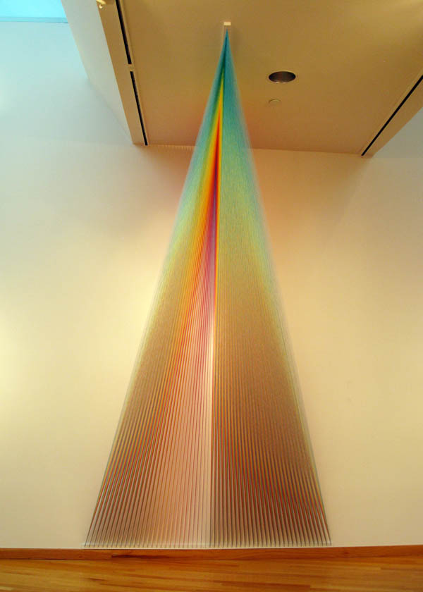 color spectrum thread art gabriel dawe 3 6 Amazing Color Spectrums Made from Thread