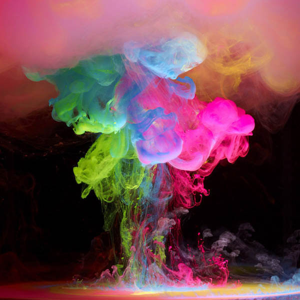colored ink in water aqueous mark mawson 1 Ink Explosions Under Water by Mark Mawson