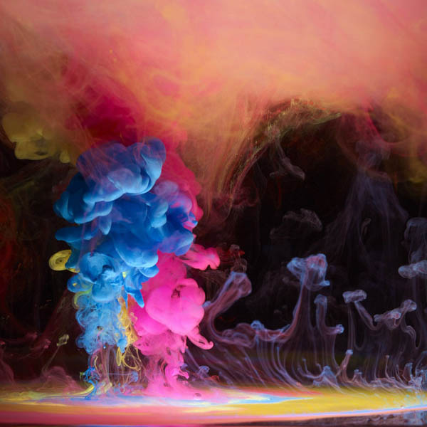 colored ink in water aqueous mark mawson 2 Ink Explosions Under Water by Mark Mawson