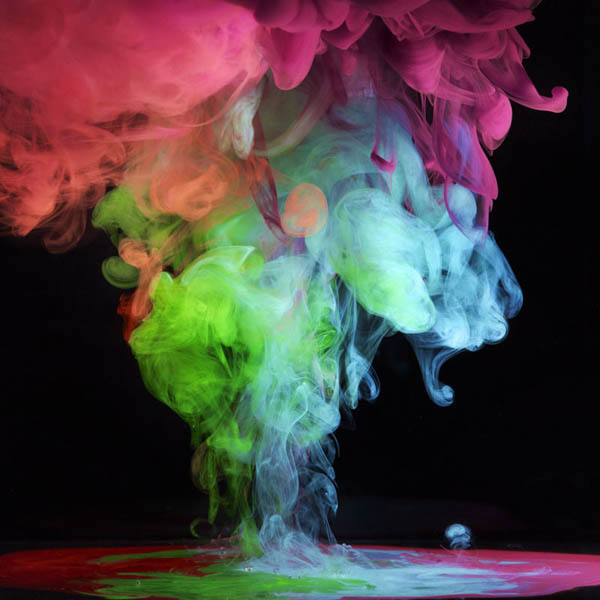 colored ink in water aqueous mark mawson 6 Ink Explosions Under Water by Mark Mawson