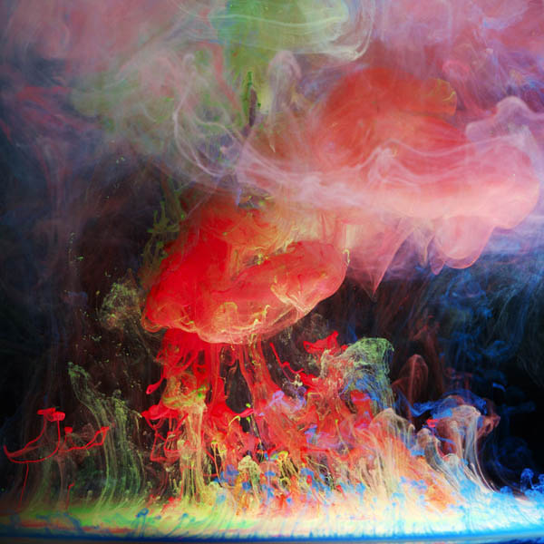 colored ink in water aqueous mark mawson 7 Ink Explosions Under Water by Mark Mawson
