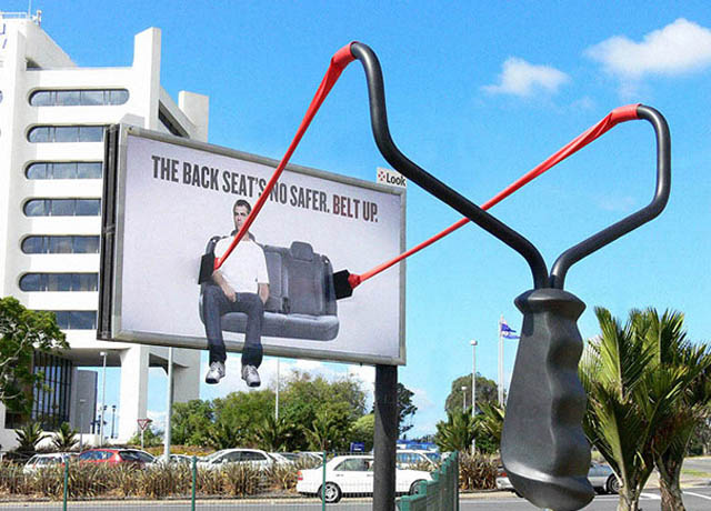 Billboard With Large Slingstelling Backseat P Engers To Buckle Up