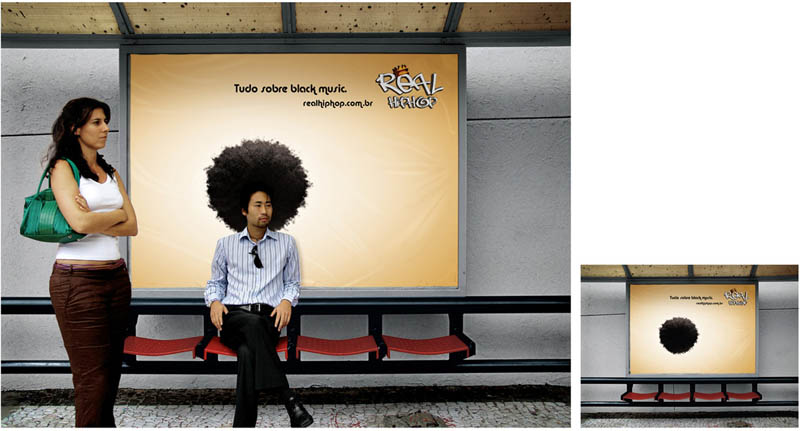 billboard that makes you look like you have an afro