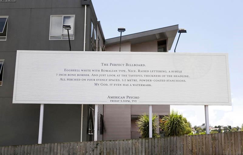 american psycho business card billboard