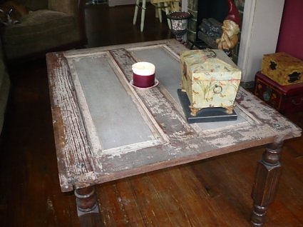 Old Door into Coffee Table