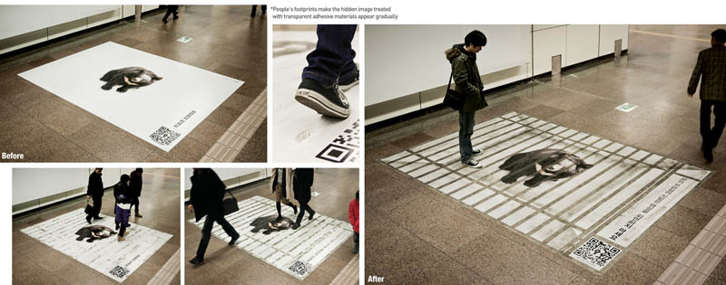 Really Creative Floor Sticker Ads Twistedsifter