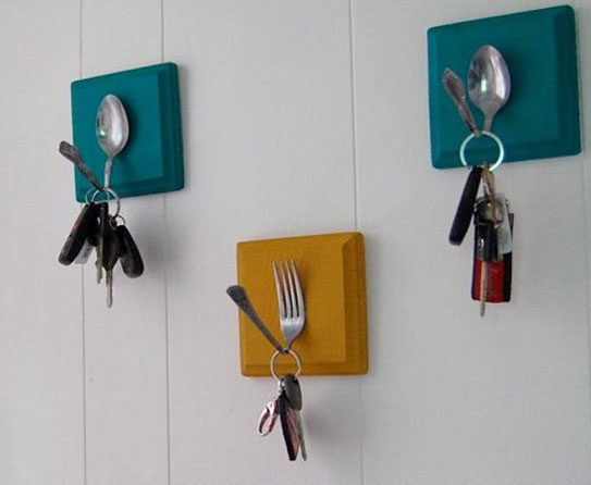 Forks And Spoons Wall Hooks 50 Creative Ways To Repurpose Reuse Upcycle Old Things