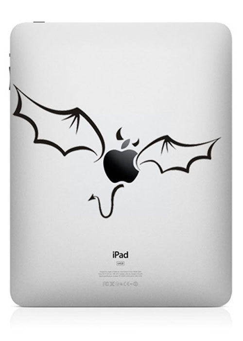 funny creative ipad decal apple bat 33 Creative Decals for your iPad
