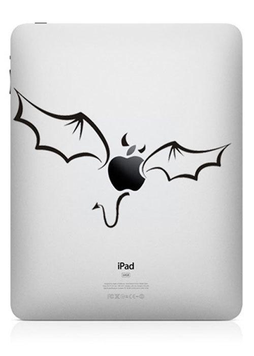 funny creative ipad decal apple bat 33 Creative Decals for your iPad