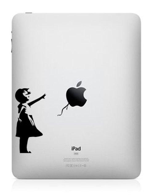 funny creative ipad decal banksy girl 33 Creative Decals for your iPad