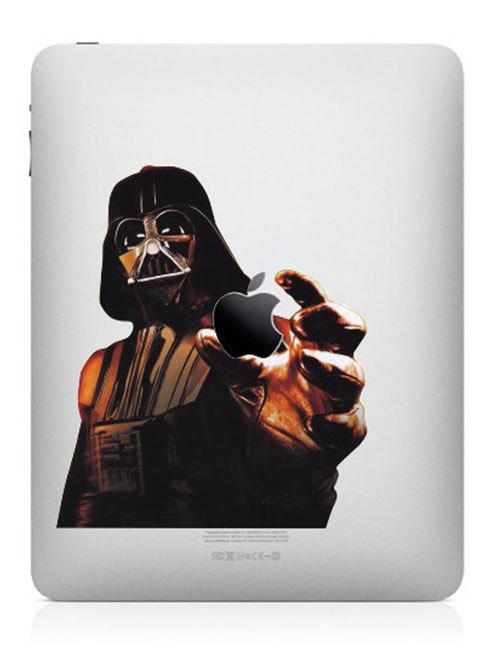 funny creative ipad decal darth vader 33 Creative Decals for your iPad
