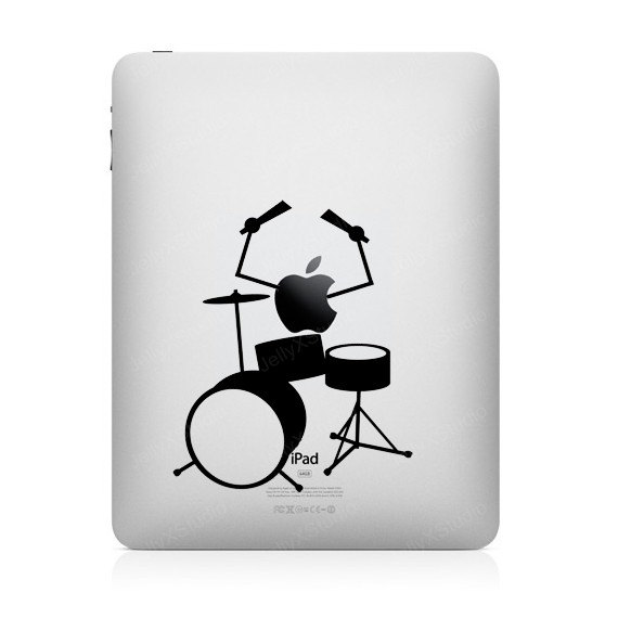 funny creative ipad decal drums 33 Creative Decals for your iPad