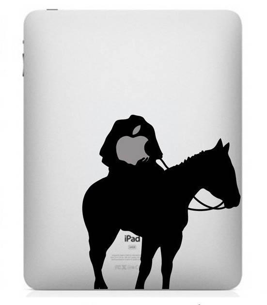 funny creative ipad decal headless horseman 33 Creative Decals for your iPad
