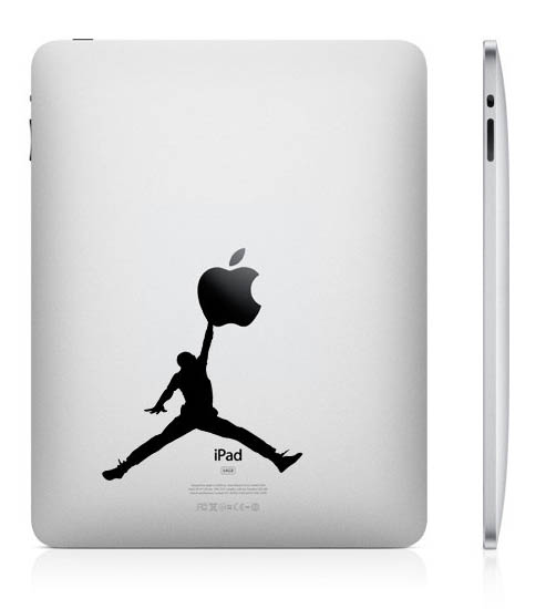 funny creative ipad decal jumpman 33 Creative Decals for your iPad