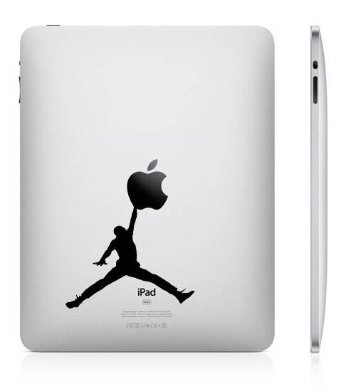 funny creative ipad decal jumpman 33 Creative Decals for your iPad