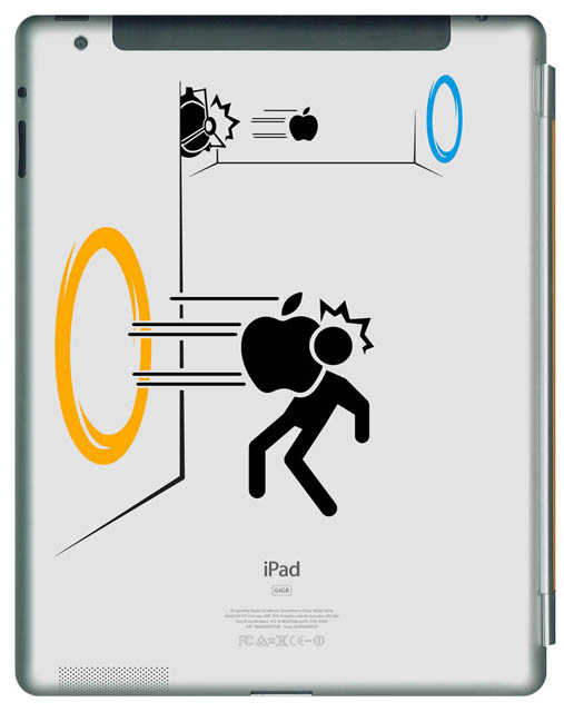 funny creative ipad decal portal 33 Creative Decals for your iPad