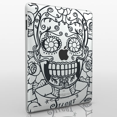 funny creative ipad decal skull 33 Creative Decals for your iPad