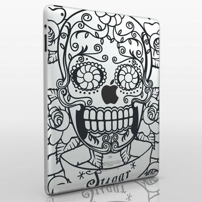 funny creative ipad decal skull 33 Creative Decals for your iPad