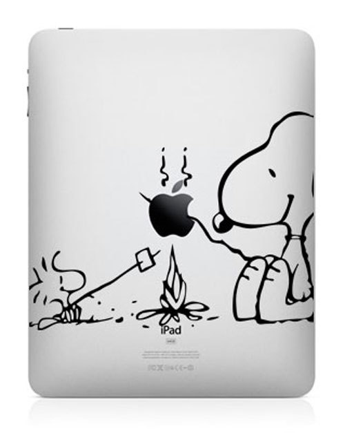 funny creative ipad decal snoopy 33 Creative Decals for your iPad