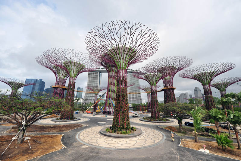gardens by the bay supertrees singapore 1 The Solar Powered Boat that Circumnavigated the World