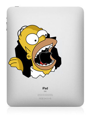homer simpson funny creative ipad decal 33 Creative Decals for your iPad