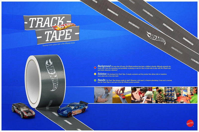 roll of track tape for hot wheels turns any surface into a racetrack