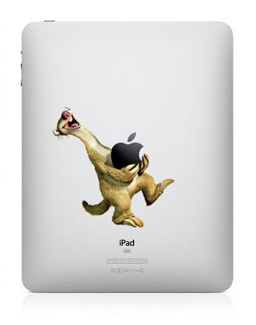ice age funny creative ipad decal 33 Creative Decals for your iPad