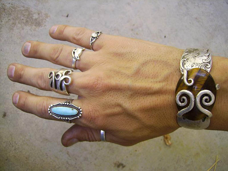 Incredible Jewelry Made From Old Sterling Silver Forks