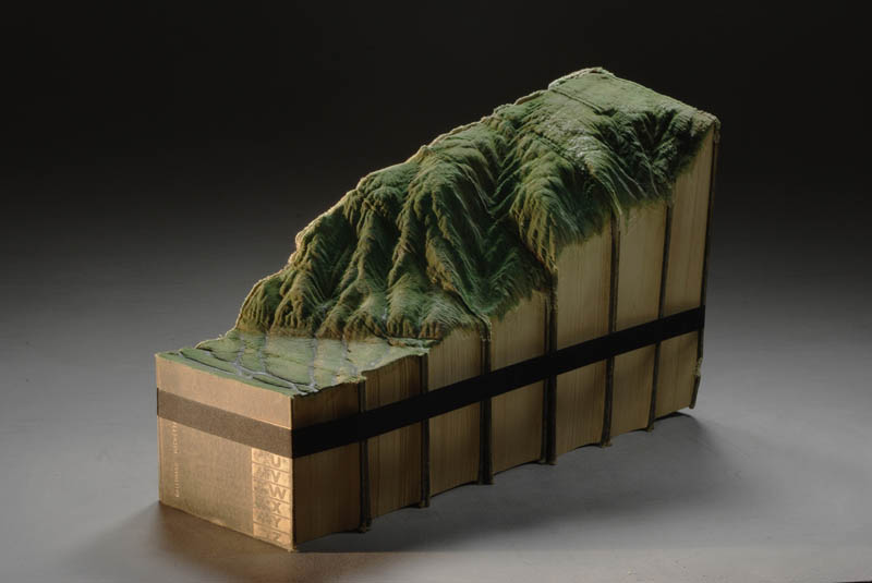 landscape carved into series of seven books