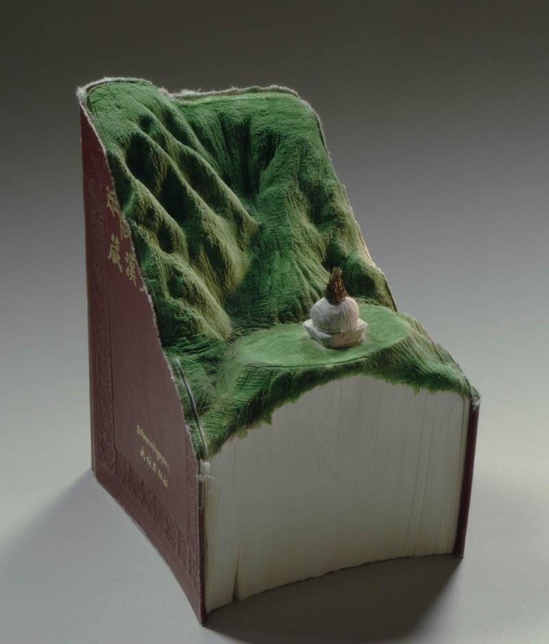 landscape book art guy laramee 11 Breathtaking Landscapes Carved Into Books