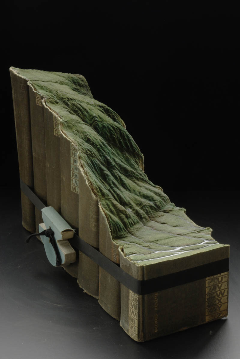 dramatic landscape carved into seven books