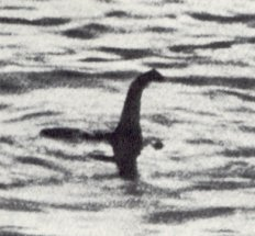 famous cropped photo of the loch ness monster that was proven a fake