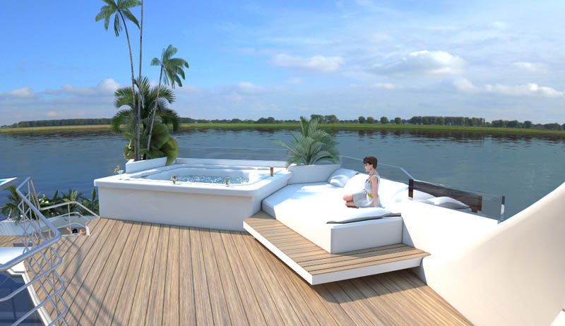 man made floating island boat orsos 11 Orsos: The Moveable Floating Island