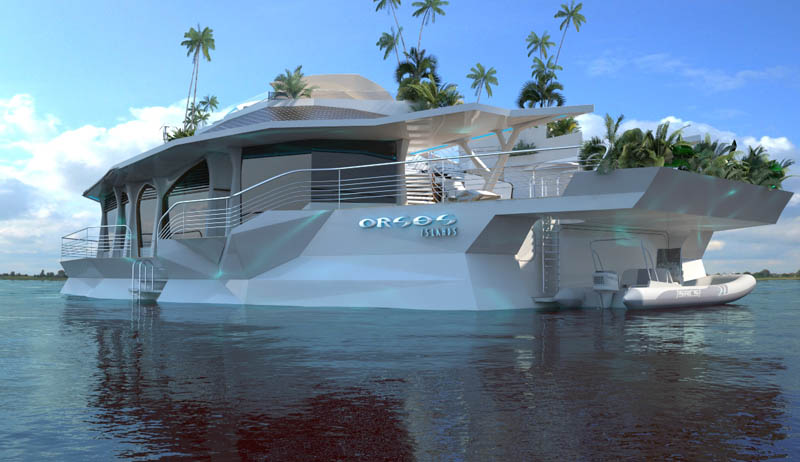 man made floating island boat orsos 13 Orsos: The Moveable Floating Island