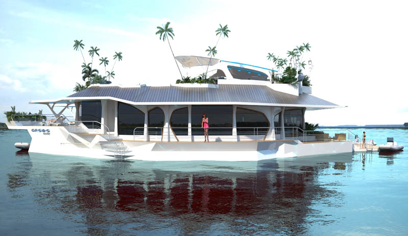 man made floating island boat orsos 19 Orsos: The Moveable Floating Island